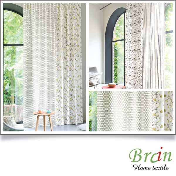 Luxury Oeko-Tex Standard 100 certified Textile Window luxury curtain