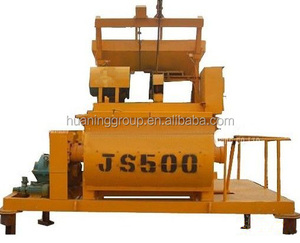 Construction Used Twin Shaft Electric Cement Mixer js500 Vehicle for sale