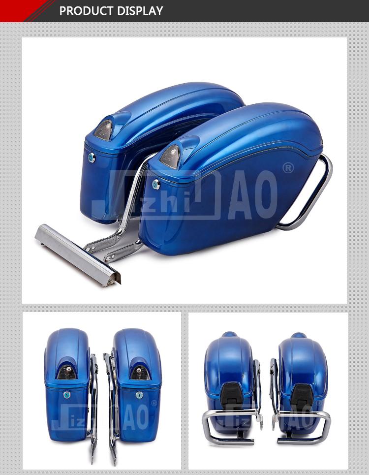 nero duro jzh tronco borse laterali per sportster hd dyna softail custom cruiser