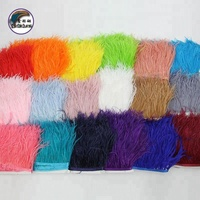 4-6 Inch(10-15 cm) Wholesale High quality real feather Soft And Fluffy Ostrich Feather fringe Trim fabric for evening dress