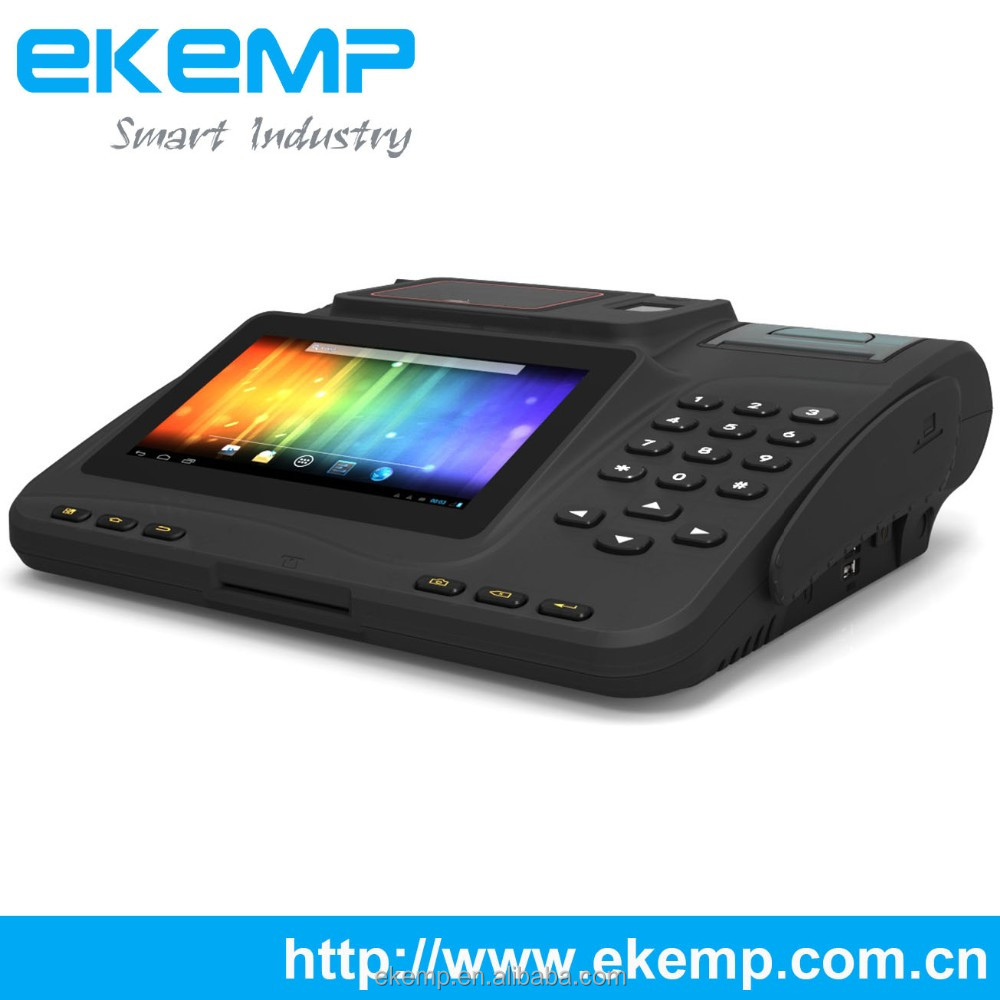 Smart Android POS Terminal for Different Application with Barcode Scanner Thermal Printer Fingerprint