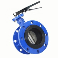 Gear Operator Double Flange Type Concentric Butterfly Valve Seat Ring