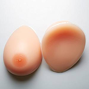 Puraid(TM) False breast Artificial Breasts1pair L size(800g) Silicone Breast Forms Fake boobs realistic silicone breast forms crossdresser