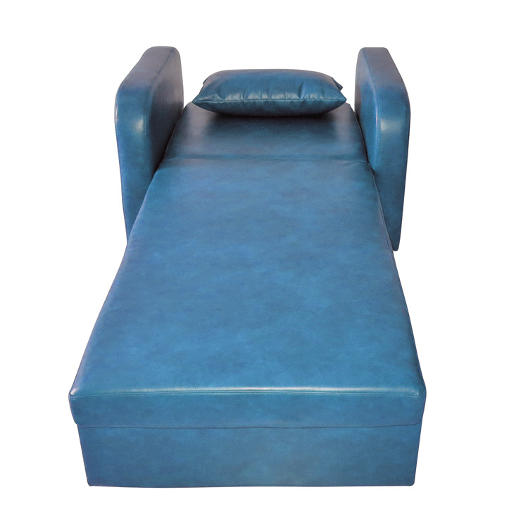 Leather Convertible Pull Out Hospital Sleeper Chair Sofa