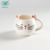 Eco-friendly hand painted cat shape white coffee tea porcelain cup
