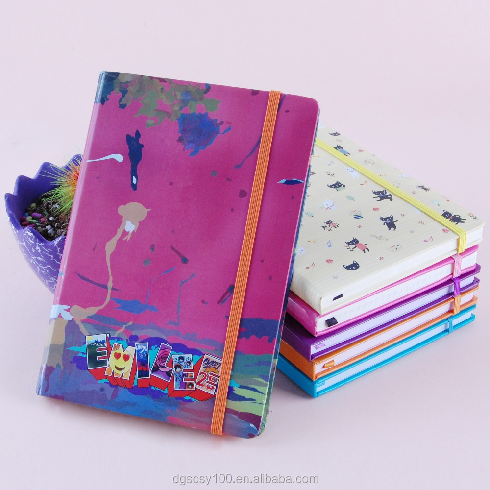 Shengcai leather notebook and diary with refillable soft cover