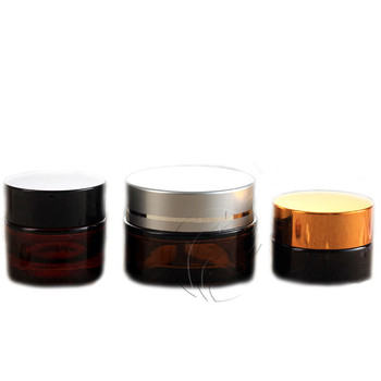 200fdcae4e9 30 g Cosmetic Glass Jar Gold Lid With Screw Top Caps