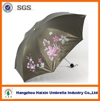 Best Pongee Fabric UV Ray Protection Folding Umbrellas