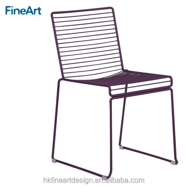 Modern design sturdy wire dinning chairs for restauarant