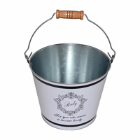 Nice-Can Hot Sale Customized Printing Ice Tin Bucket Metal Bucket With Handle