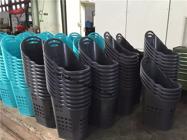Kunststoff einkaufskorb Mit Rädern Supermarkt kunststoff wäschekorb Roll einkaufskorb Buy