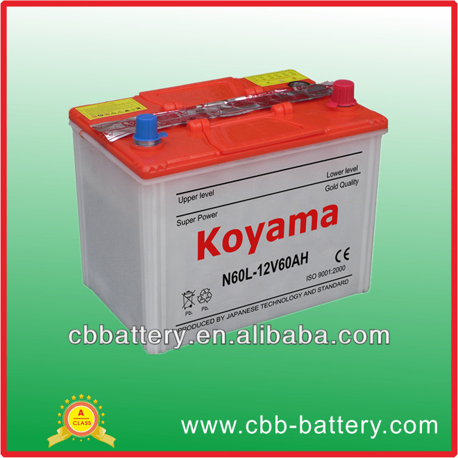 Super Power 12V60AH Dry Charged Acid Auto/Car Battery in Bulk producing