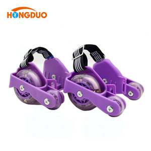 Wholesale promotion series flashing roller attachable wheels for shoes