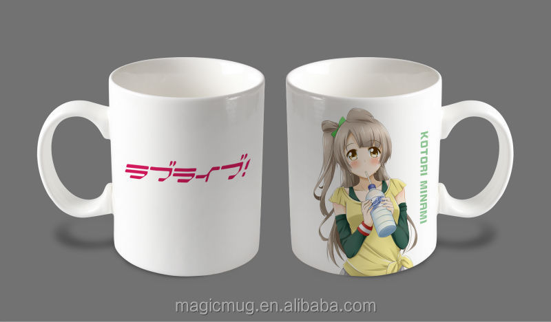 Love Live Anime Japanese Ceramic Coffee Mug Minami Kotori Design Ceramic Milk Mug With Factory Wholesale Love Live Anime Mug