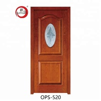 Latest Product Super Quality Standard Hotel Wooden Single Pvc Bathroom Door Flower Design