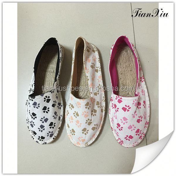 2016 cheap fashion canvas ladies shoes