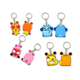 Fashional custom soft PVC keychains for Kids gifts