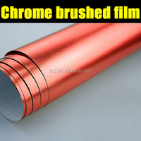 Hot Selling Red Chrome Brushed Car Body Sticker