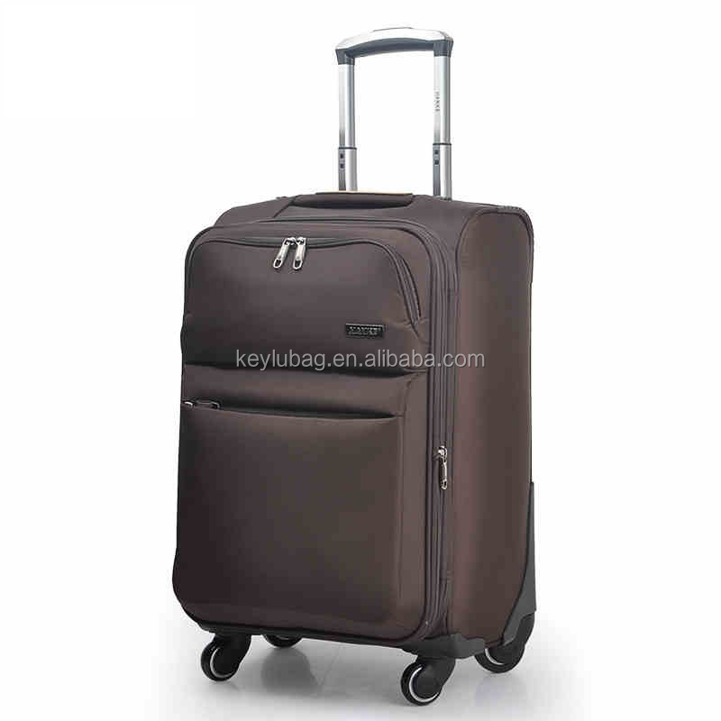 Factory wholesale hot good quality trolly travel suitcase with four wheels luggage
