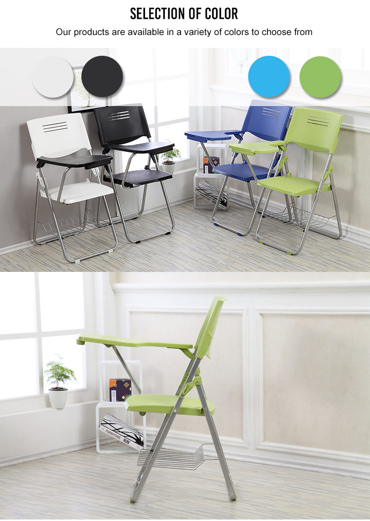 Plastic Study Folding Chair With Writing Pad