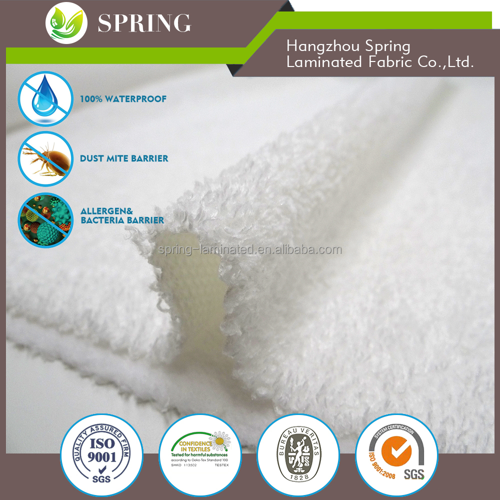 Premium 100 polyester waterproof breathable Mattress protector fabric