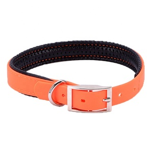 New Design Adjustable PVC Dog Collar, Soft Vinyl Coated webbing Dog Collar, Dogs Accessories in China