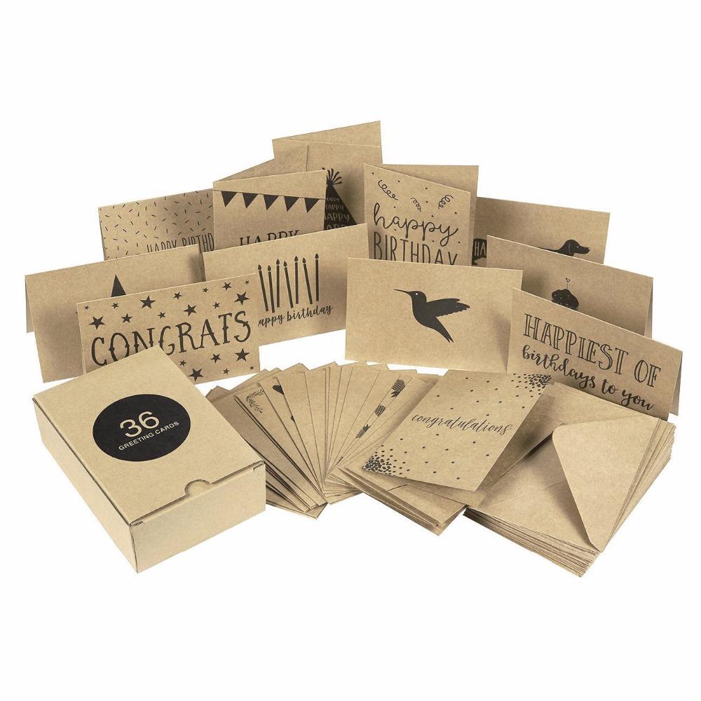 Wholesale Custom Kraft Paper Greeting Card,Design Festival Card