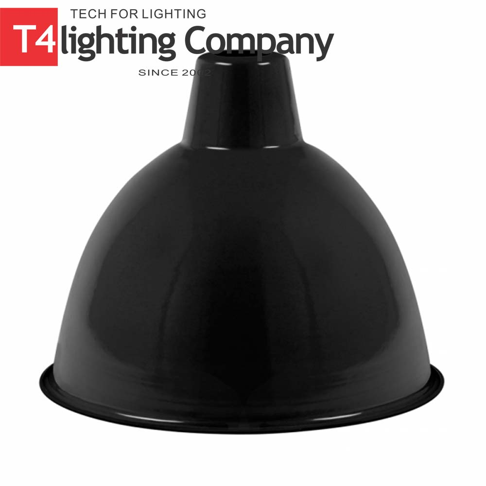E27 Black Enamel Lamp Shade Dome Lampshade Metal Frame
