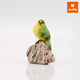 Colorful parrot birds resin animal figurines