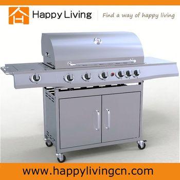 stainless steel the best gas grill 6 1 burner kitchen bbq. Black Bedroom Furniture Sets. Home Design Ideas