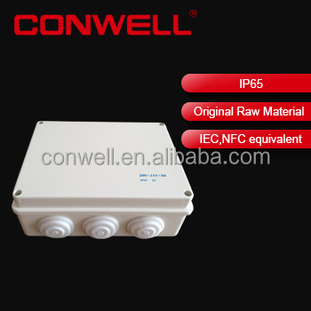ABS electrical junction box with Cable Gland waterproof terminal junction box
