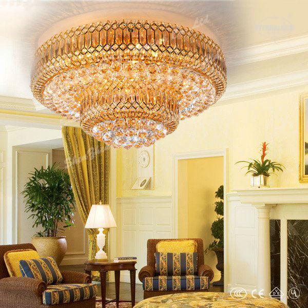 grande hermoso proyecto de lujo cristal lamparas techo de habitacin saloon etl