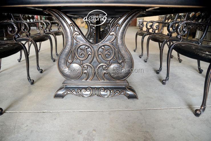 Agravantes aluminio fundido lujo villa jard n cena mesa y for Aluminio productos de fundicion muebles de jardin