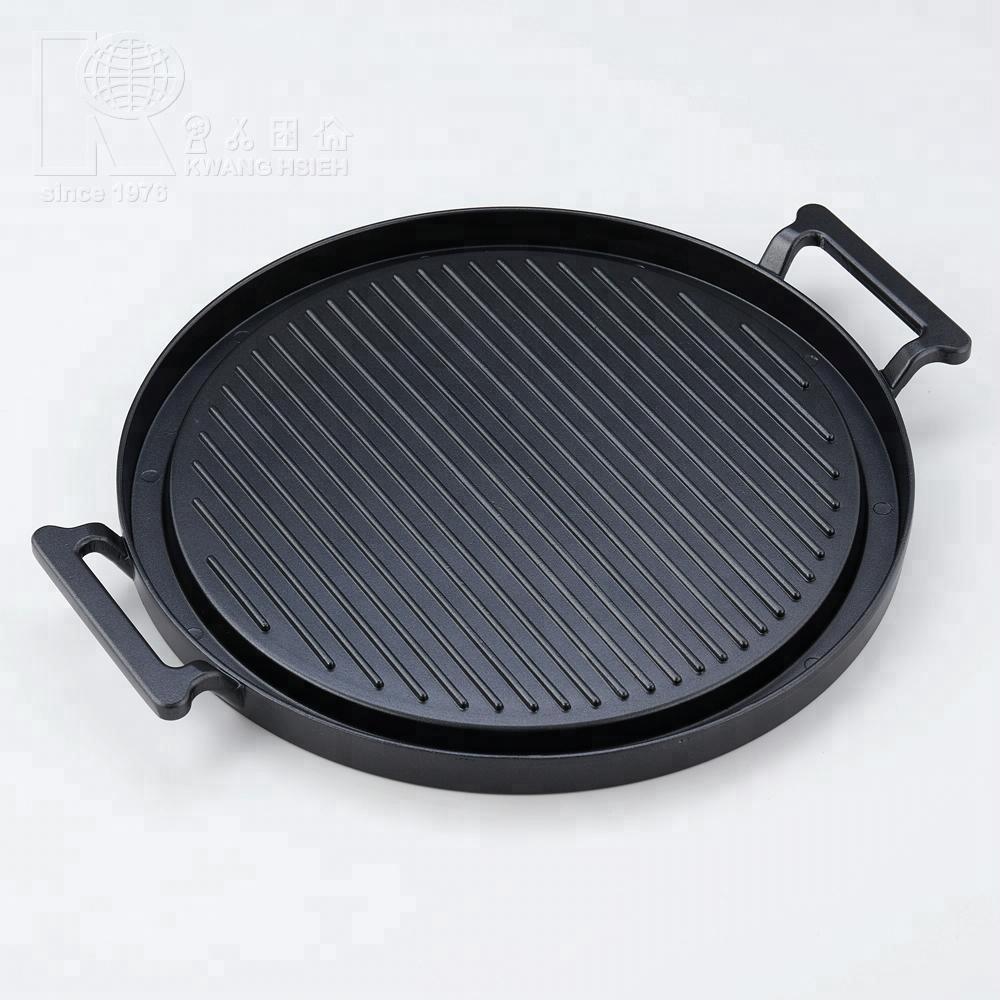 Kwang Hsieh fundición de aluminio parrilla ronda placa