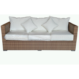 Hot design comfort wicker 3-seat rattan sofa with freely matching