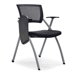Folding Study Chair With Writing Pad For College Student training chair