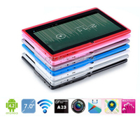 5pcs/lot DHL Free Shipping 7inch A23 Dual Core Q88 tablet pc Dual Camera with Flashlight Android 4.4 WiFi OTG
