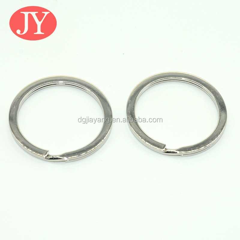Nickel Plated Silver Steel Round Edged Split Circular Keychain Ring
