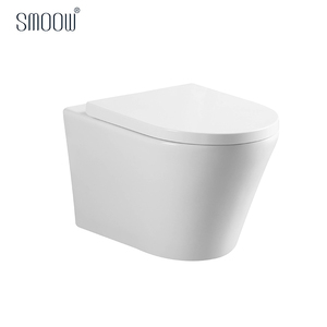 China manufacturer white rimless ceramic round wall hung toilet sanitary ware