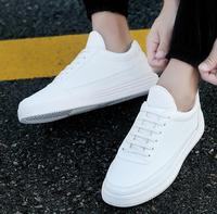 up-0371r Cheap wholesale men flat shoes korean new casual white shoes