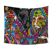 Hause Dekoration Digitaldruck Psychedelic Hippie Arabesque Retro Trippy Wandbehang Tapisserie