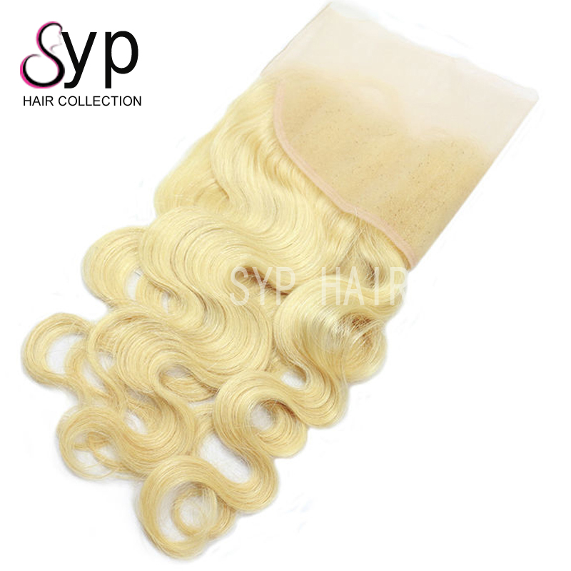613 Blonde Body Wave Virgin Human Hair Extensions Companies 13x4 Lace Frontal Closure And 3 Bundles