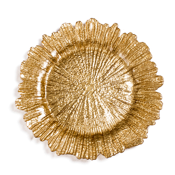 plate buy reef gold glass charger plate charger plates wholesale