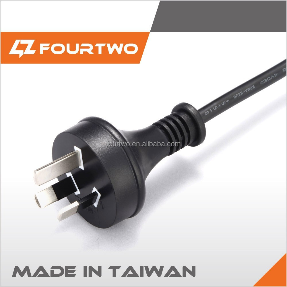 Made in Taiwan male 220V 250V 3 pin SAA Australia power plug