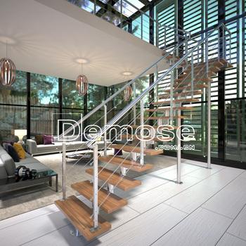 Últimas Diseño Escaleras Interior/paso De Madera Casa Escalera De ...