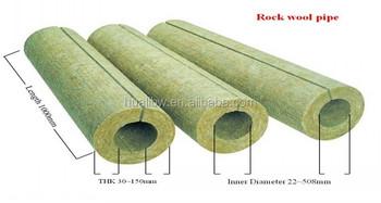Waterproof hydrophobic 150kgm3 rockwool pipe insulation for Rockwool pipe insulation prices