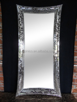 Rectangle Crackle Handmade Full Length Design Wall Mirror