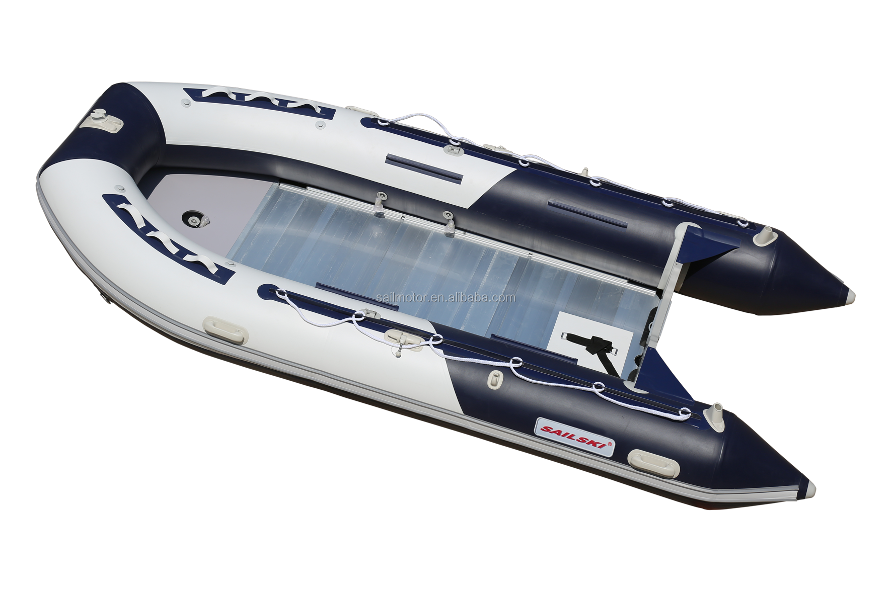 SAILSKI 14ft inflatable boat for 8 person, Aluminum floor