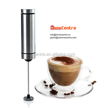 Electric stainless steel cappuccino milk frother/ Battery operated MF-518