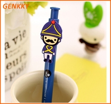 Cartoon Solider Clip ball Pen Plastic pen for Kids
